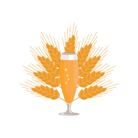 白い背景に分離されたビールのピルスナー グラス