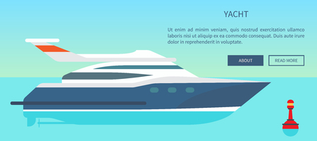 Modern High Speed Yacht Website with Information