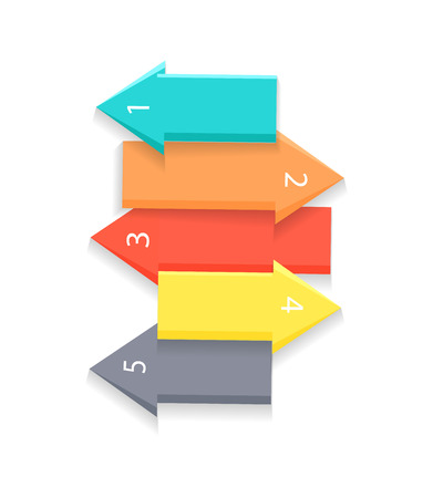 Colorful Arrows for List Vector Illustration
