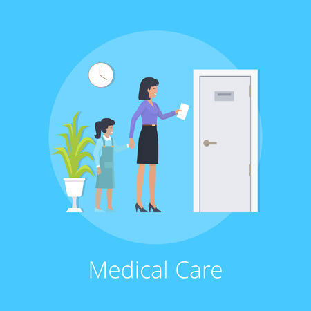 Medical Care Colorful Poster Vector Illustration