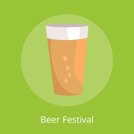 Beer Festival Poster with Icon of Full Pint Glass
