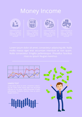 Money Income Statistics Vector Illustration Illusztráció