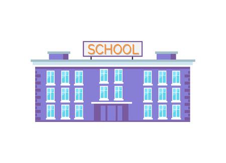 Huge School Building Vector Illustration