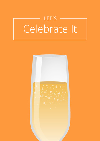Lets Celebrate it Advertisement Poster Champagne