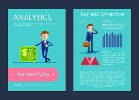 Analytics Business Way on Vector Illustration