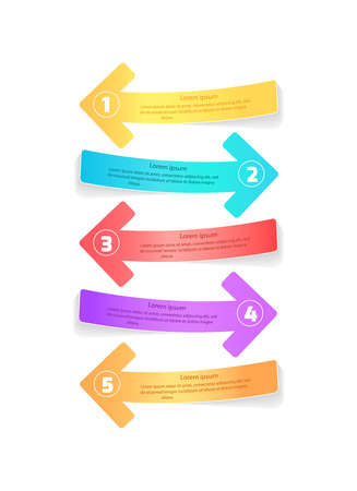Multicolor Arrows for Infographic Posters Design
