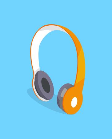 Wireless Headphones Vector Three Dimensional Icon