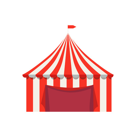 Striped Tent for Selling food Products with Flag