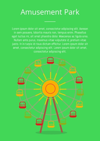 Amusement Park Poster Attraction, Ferris Wheel