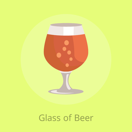 Beers Snifter in Transparent Glassware Vector