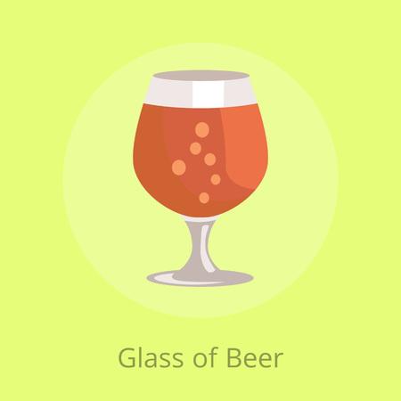 Biersnifter in transparante glaswerkvector