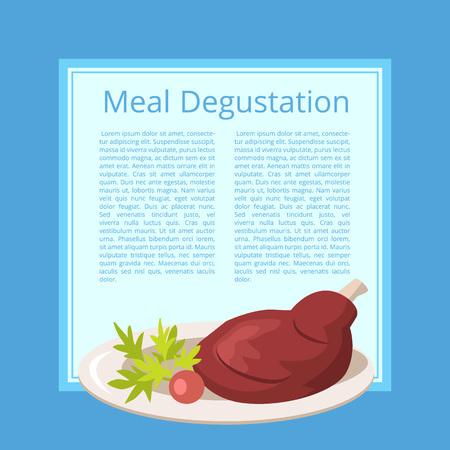 ブルーの肉おまかせベクトル図。