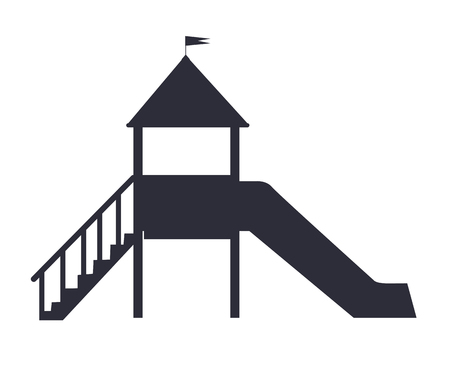 Children s Slide for Playground on White Backfit