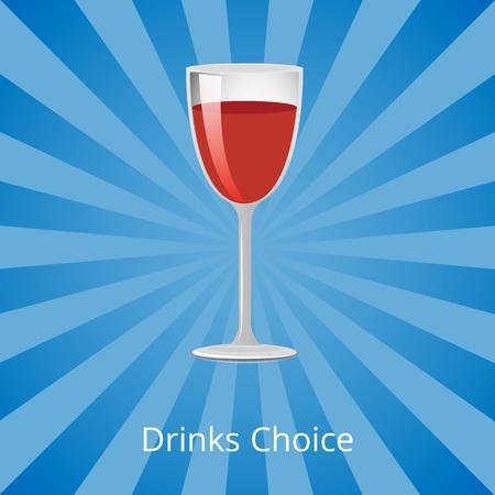 Bebidas escolha ilustração vetorial mostrada em azul Foto de archivo - 90603037