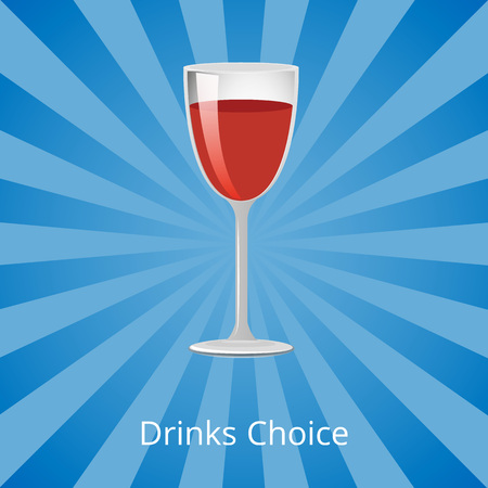 Drinks Choice Vector Illustration Shown on Blue