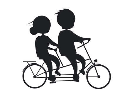 自転車に乗って幸せな祖父母日シニア カップル