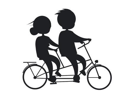 Coppie felici di giorno dei nonni felici sulla bicicletta Archivio Fotografico - 90603046