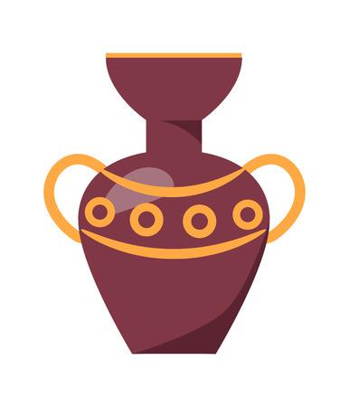 Ancient Greek Vase Isolated Illustration on White Ilustrace