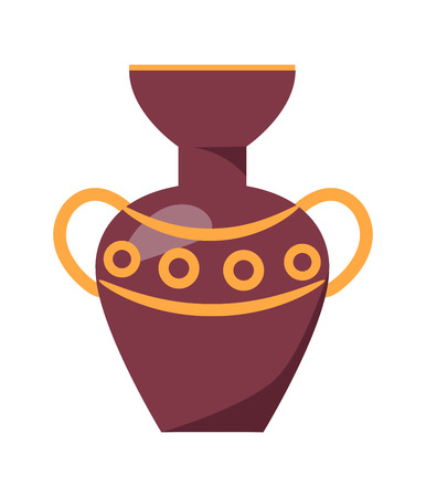 Ancient Greek Vase Isolated Illustration on White Stock Vector - 90605198