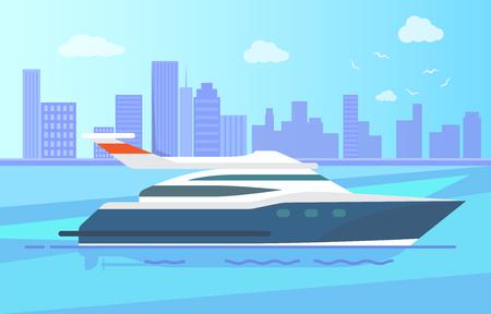 Luxurious Modern Yacht Stand near Long Coastline