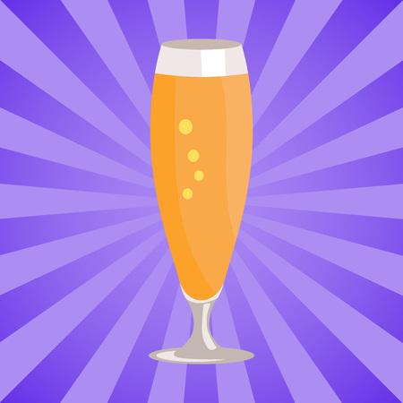白い背景に隔離されたビールのピルスナーグラス  イラスト・ベクター素材