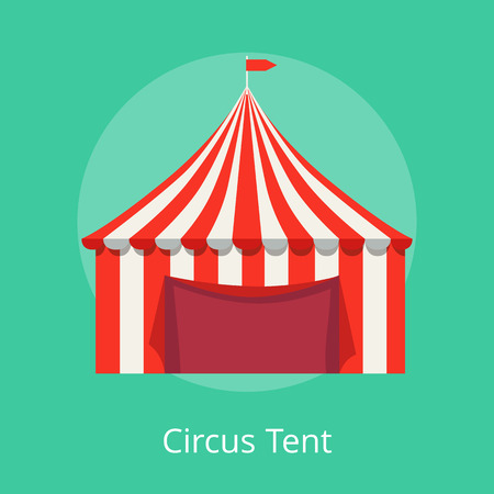 Circus Tent Poster Striped Awning for Performances