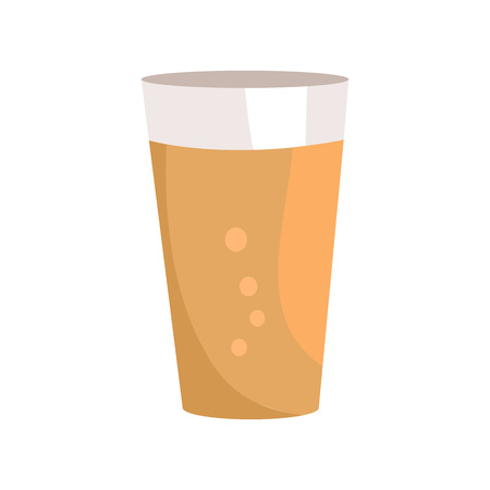 Pint of Dark Beer in Transparent Glass Vector Icon