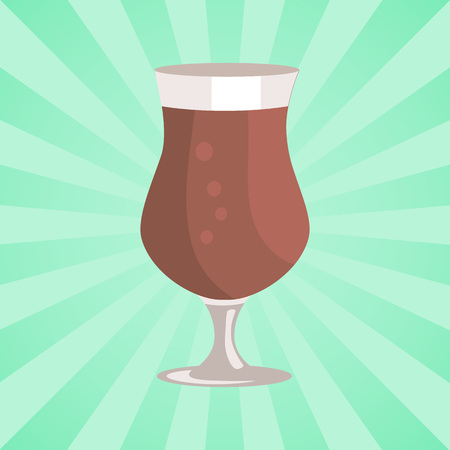 Tulip Glass of Beer Transparent Cup on Leg Vector