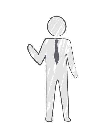 Businessperson with Tie Icon Vector Illustration