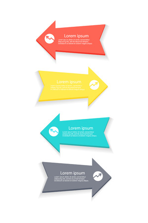 Arrows for Forming Statistics Vector Illustration
