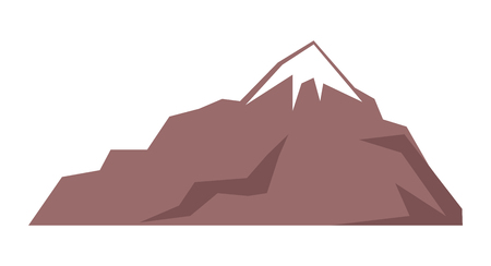 Rocky Mountain Isolated Illustration on White Ilustração