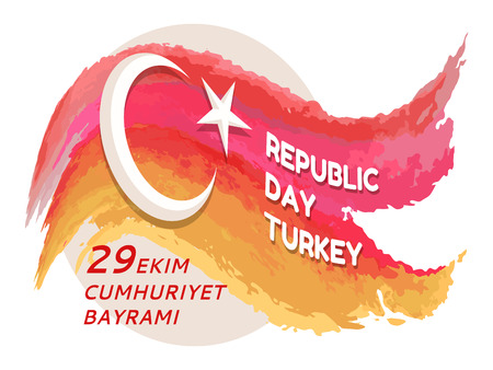 Republic Day Turkey 29 Ekim on Vector Illustration Illustration