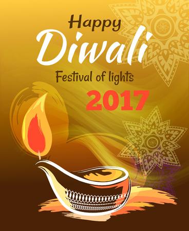Happy Diwali Festival of Lights 2017 Banner