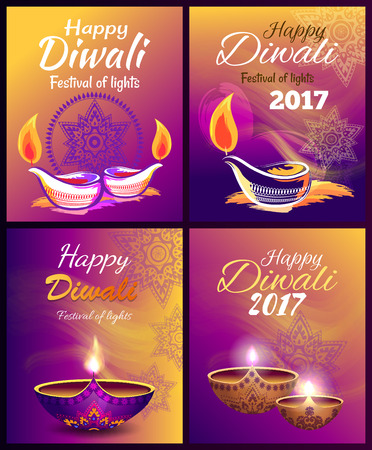 Happy Diwali Festival of Light Vector Illustration Illustration
