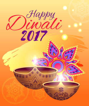 Happy Diwali Festival of Lights Bright Poster