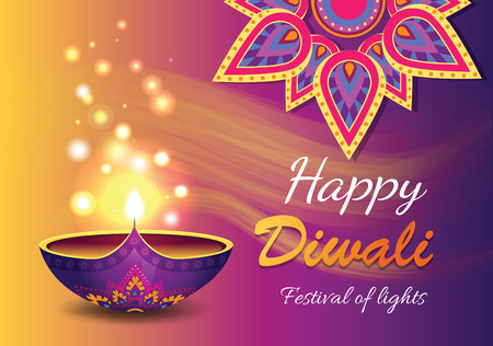 Happy Diwali Promo Poster Vector Illustration