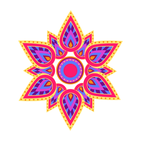 Spiritual Symbol Mandala on Vector Illustration
