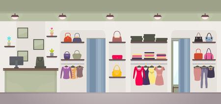 Women s Clothing Store Vector Illustration 向量圖像