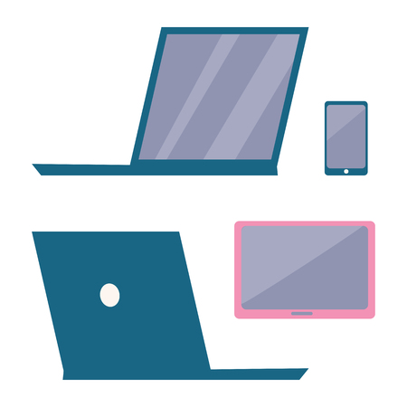 Modern Electronic Devices Vector illustration