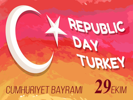 Republic Day Turkey Congratulation Poster