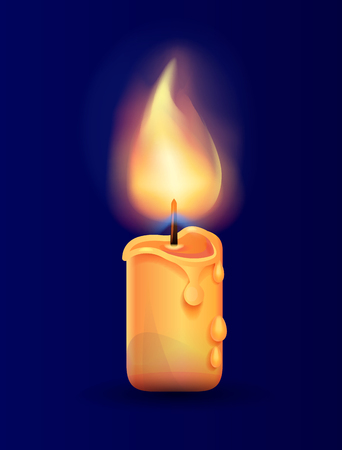 Burning Candle in Realistic Design Vector Icon Stock fotó - 90652602