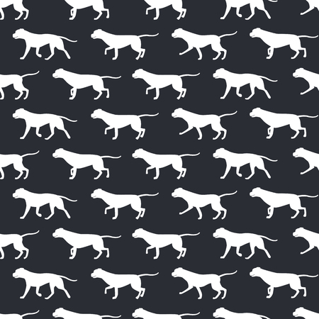 Animal seamless vector pattern of dog silhouettes