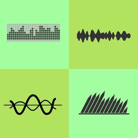 Equalizer Interface Variants Vector Illustration