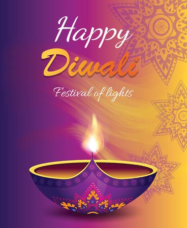 Happy Diwali Festival of Light Vector Illustration Vector Illustration