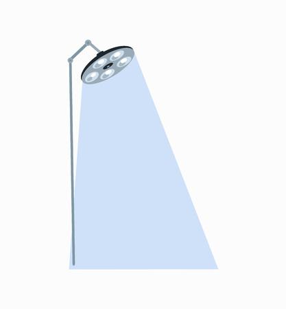 Luminous Surgeon Lamp Icon Vector Illustration Illustration