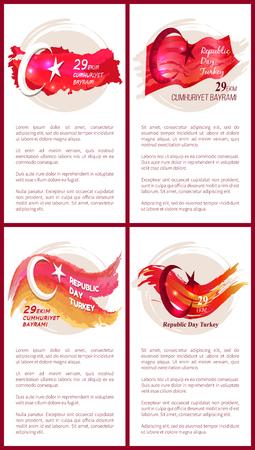 Turkey Republic Day Set of Colorful Posters