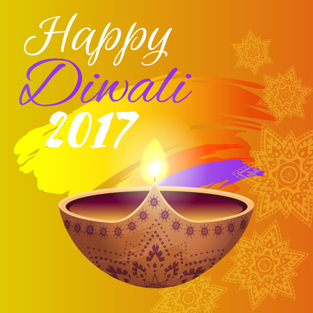 Happy Diwali 2017 Festival Vector Illustration