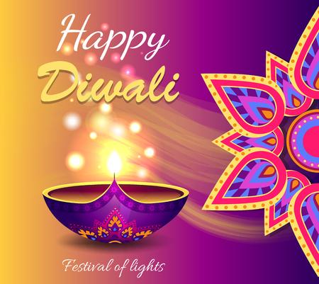 Happy Diwali Promo Poster Vector Illustration