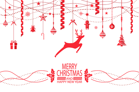 Merry Christmas and Happy New Year Congratulation