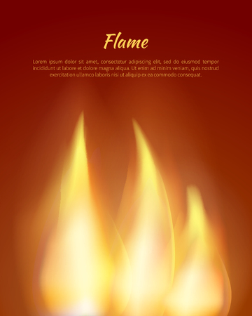 Flames from Candles Vector Illustration with Text Stock Photo